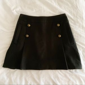 Express Black Sailor A-Line Skirt
